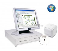 Pack TPV Galicia-SAM4S-WI completo de Color Blanco con programa CodigoAberto para HOSTELERIA