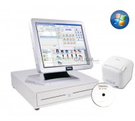 Pack TPV Galicia-SAM4S-WI completo en color blanco con programa CodigoAberto para Comercios